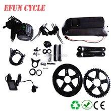 48โวลต์750วัตต์กลางไดรฟ์ชุดมอเตอร์ที่มี48โวลต์14Ah BBS02 USBลงท่อแบตเตอรี่สำหรับจักรยานยางไขมัน 8Fun/Bafang