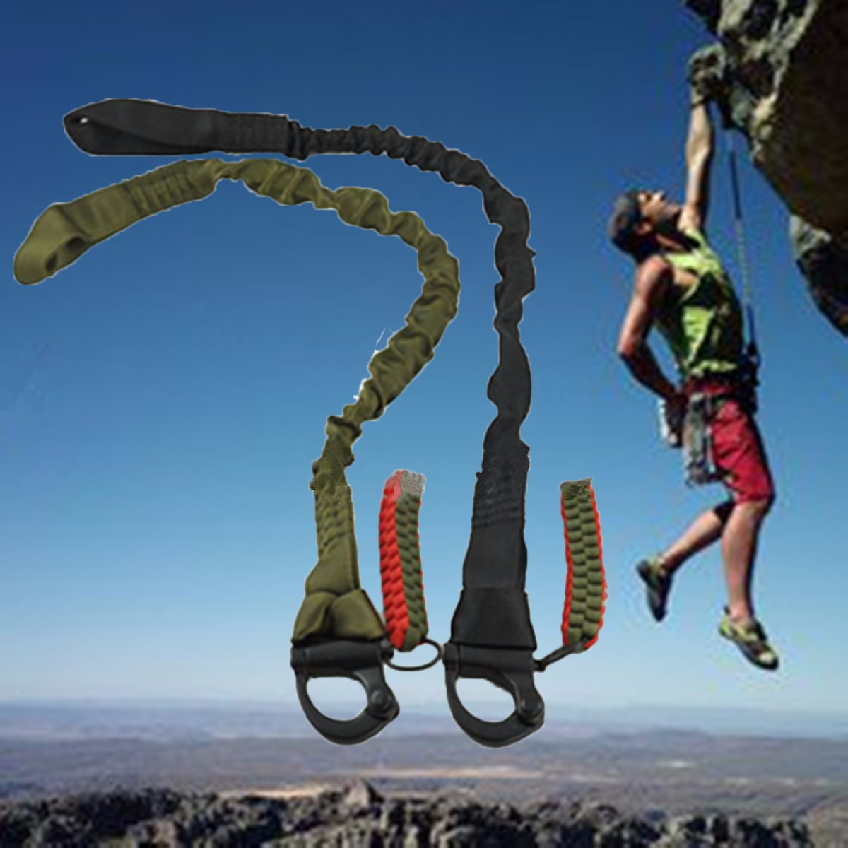 High Quality Outdoor Climbing mounting Safety Lanyard Strap Rope Tactical Protective Sling Line Climbing Rope climbing kit