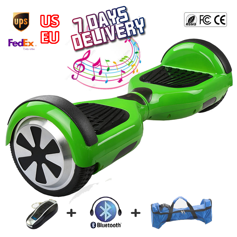 Bluetooth Inteligente Equilíbrio Roda Verde Hoverboard Skate Deriva Auto  Balanceamento Monociclo Elétrico Scooter de Pé Placa de Hoover em Scooters  ... 1ae075ef962