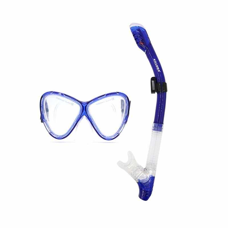 Подводное наборы и маски для дайвинга Силиконовое оборудование полный сухой трубка плавание анти-туман очки погружения насадка для очков комплект