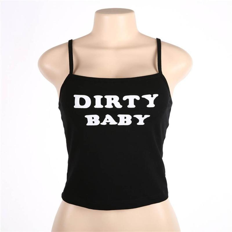 Pattern Letter Women Crop Tops Soft Cotton Print Halter Bustier Bandage Short Camisole Charm Club Party Sleeveless Tank Tops