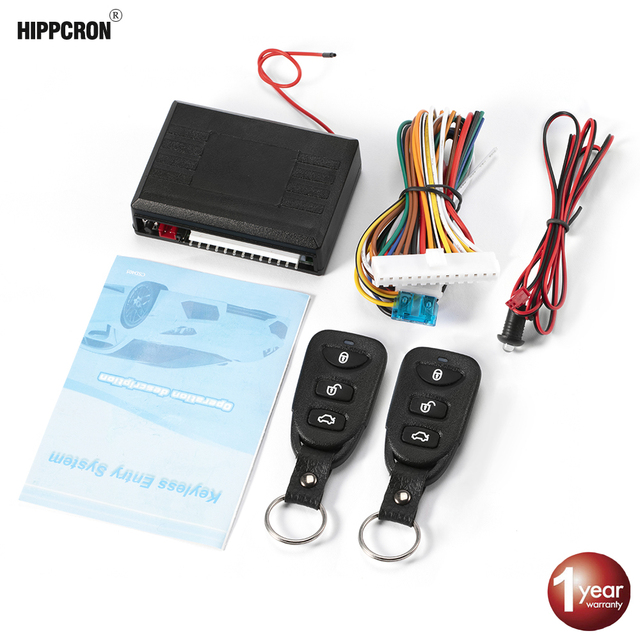 Viecar Car Remote Central Door Lock Keyless System Central Locking with Remote Control Car Alarm Systems Auto Remote Central Kit
