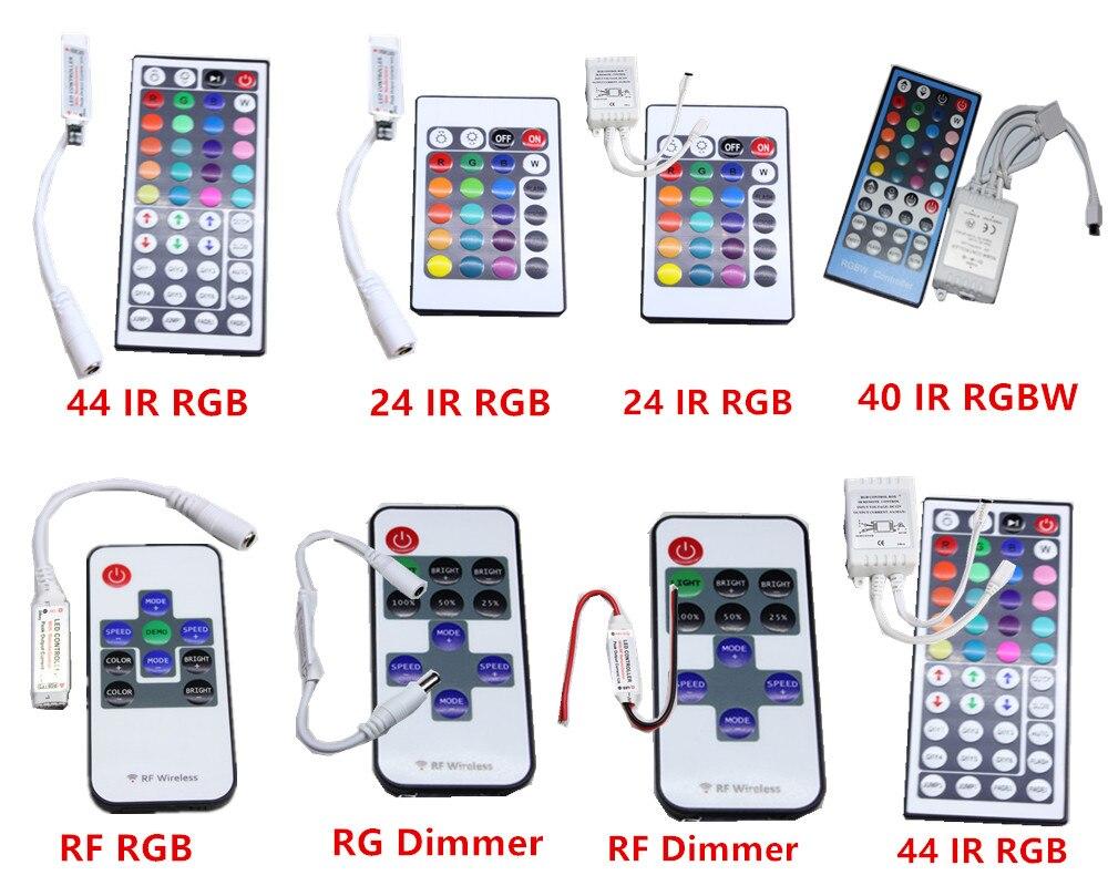 IR RF Remote Controller Dimmer  RGB RGBW 11/12/24/44/40 Key For 5050 5630 2835 3528 3014 Led Strip