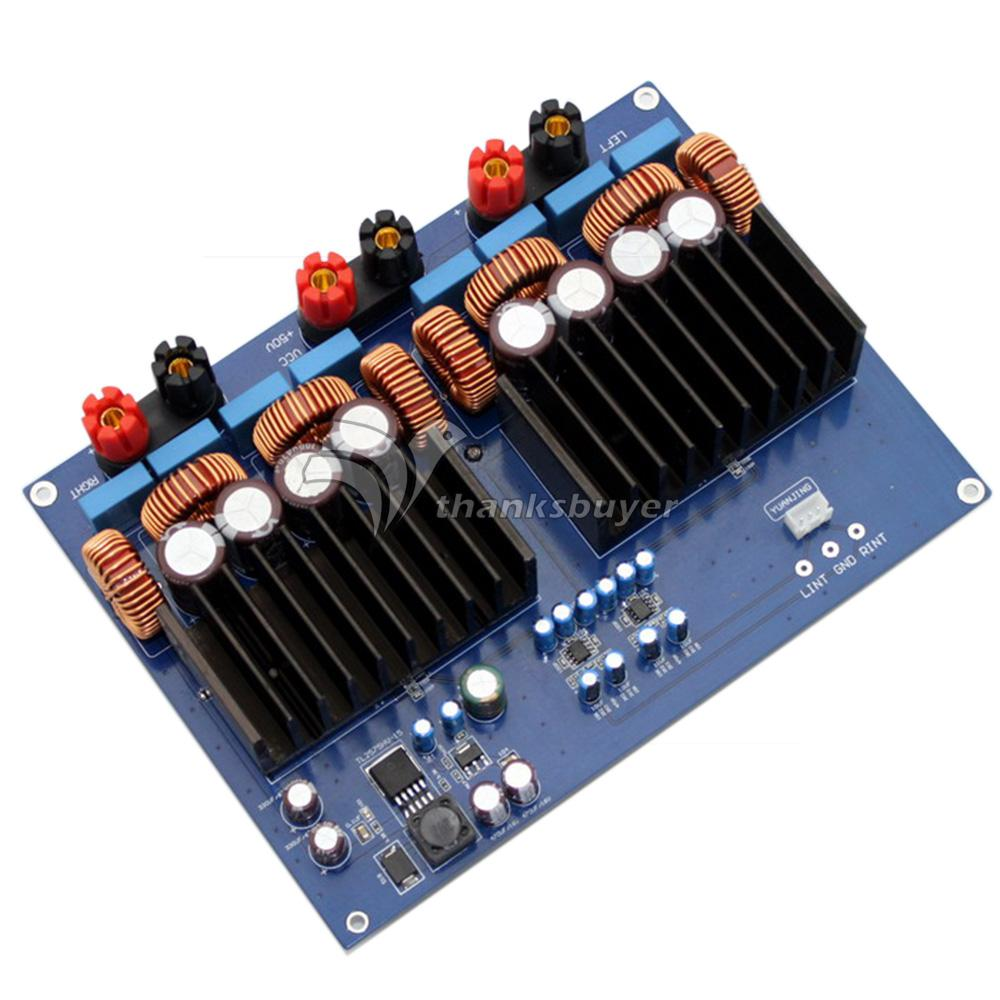TAS5630 2.0 Class D DC48V 1200W High-Power Stereo Digital Amplifier Board Audio Amp tda7498 2x100w digital power amplifier board audio amplifier class d dual audio stereo dc 14 34v for home theater active speaker