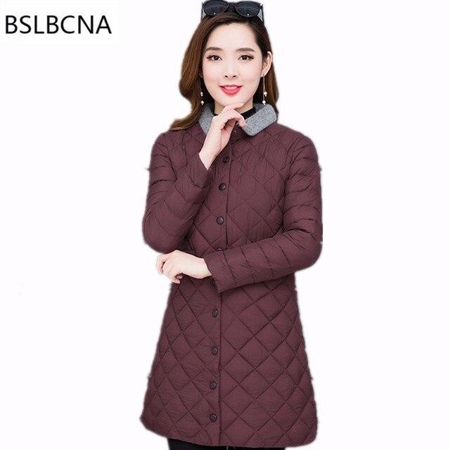 5XL Autumn Winter Coat Women 2018 Plus Size Cotton Padded Clothes Female Mid Length  Vintage Korean New Down Cotton Jacket T67