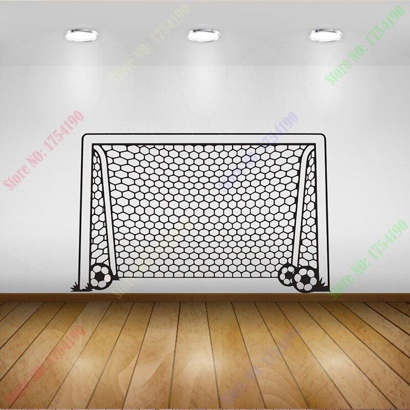 Na Venda de Rede do Gol De Futebol Esportes com Bola Decoração Da Sua Casa  PosterWall papel Pintura Mural da parede arte Do Decalque Do Vinil da Arte  Da ... d0028fd4e9410