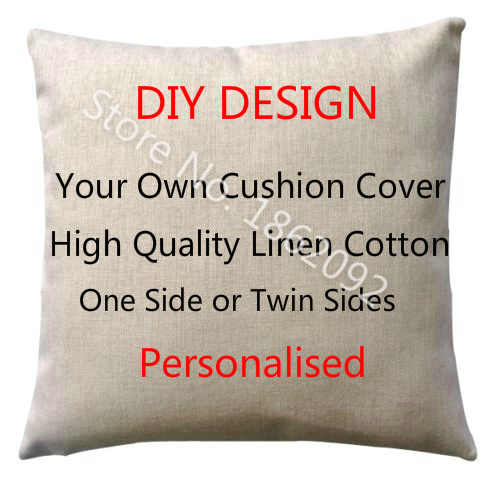 Personalized Cushion Cover Linen Personalised Custom Throw Pillow