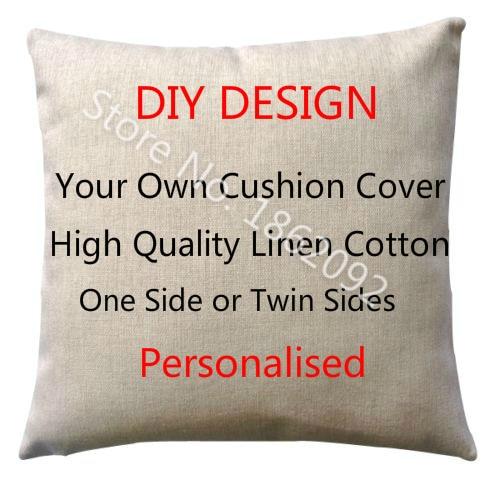 Linen Monogram Throw Pillow: Aliexpress.com : Buy Personalized Cushion Cover Linen