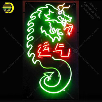 Neon Sign for Chinese Dragons Lucky yunqi neon Light Sign illuminated Display Bar Club Sign glass Tubes Handcrafted Neon signs