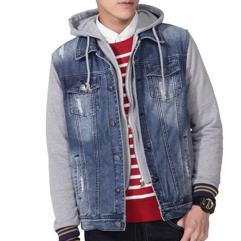 Collection Denim Hooded Jacket Men S Pictures - Reikian
