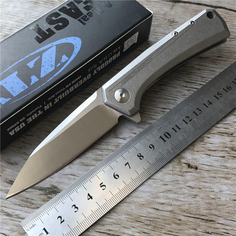 New font b Tactical b font Folding font b Knife b font D2 Blade ZT0808 steel