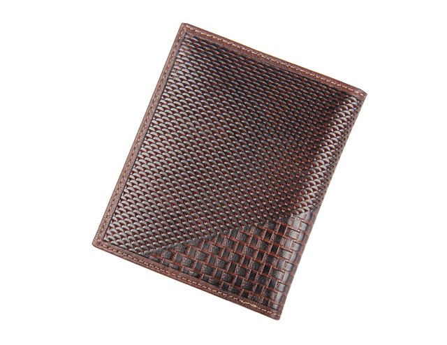 S.C Free Shipping 100% weave cow leather  Man's Wallet in wholesale or retail men leather wallet in lots of card slot place
