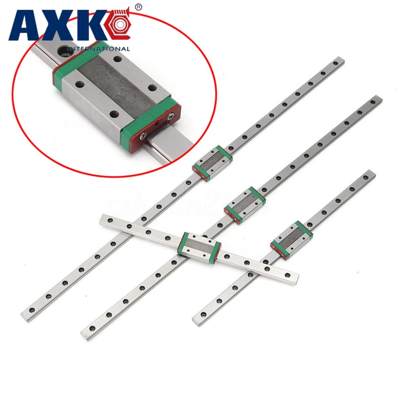 Hot sale 3D print parts cnc AXK MGN12 12mm miniature linear rail slide 1 Set=3pcs 12mm L-700mm rail+3pcs MGN12H carriage цена