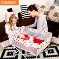 2016 Nueva Venta de Punto Los Niños Bolsas de Dormir Almohada Cunas Para los gemelos Recién Nacidos Cuna de Viaje Plegable Bb Minimedición Simple