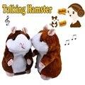 Precioso Talking Hamster Hablar Sound Record de Peluche de Felpa Animales de Juguete Para Niños