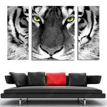 3 шт. полный алмазов вышивки Круглый дрель 3D тигр картина multi картина, вышитая бисером мозаики home decor 80×45 см