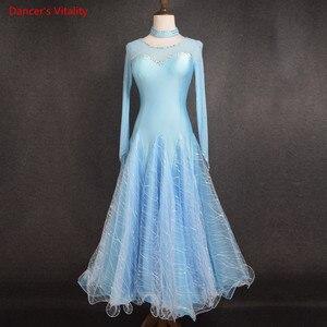 Image 4 - 2018新しい女性ダンスドレス女性社交パフォーマンスダンスドレス女性はドレスワルツ