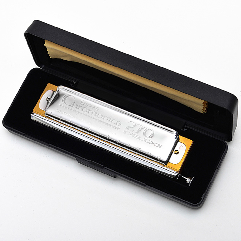Chromatic Harmonica 12 Holes Mouth Organ Instrumentos Key C Musical Instruments Pearwood Comb Blues Hohner Chromonica 270 Deluxe easttop brass chromatic harmonica 16 hole brass abs comb musical instruments mouth organ chromatic slide harmonica good sound