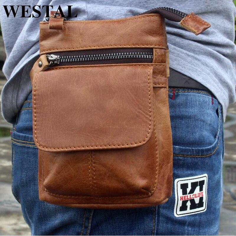 WESTAL Bolsos de los hombres Paquete de la cintura de cuero genuino - Bolsos - foto 6
