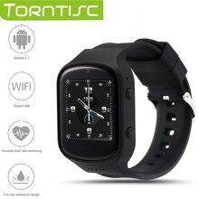 Torntisc Date Z80 Bluetooth Smart Watch 1.54 IPS MTK6580 Quad core 1.3 GHZ Android 5.1 OS avec moniteur de Fréquence Cardiaque Caméra GPS