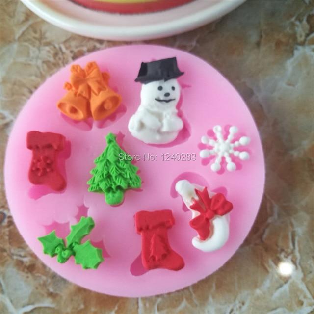 Schneemann Schneeflocken Weihnachtsbaum Silikonform Fur Kuchen
