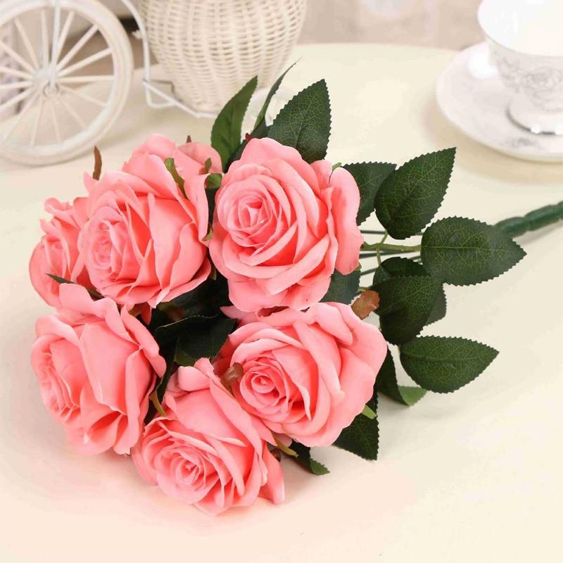 1 μπουκέτο τεχνητό λουλούδι 9 κεφαλές - Προϊόντα για τις διακοπές και τα κόμματα - Φωτογραφία 2
