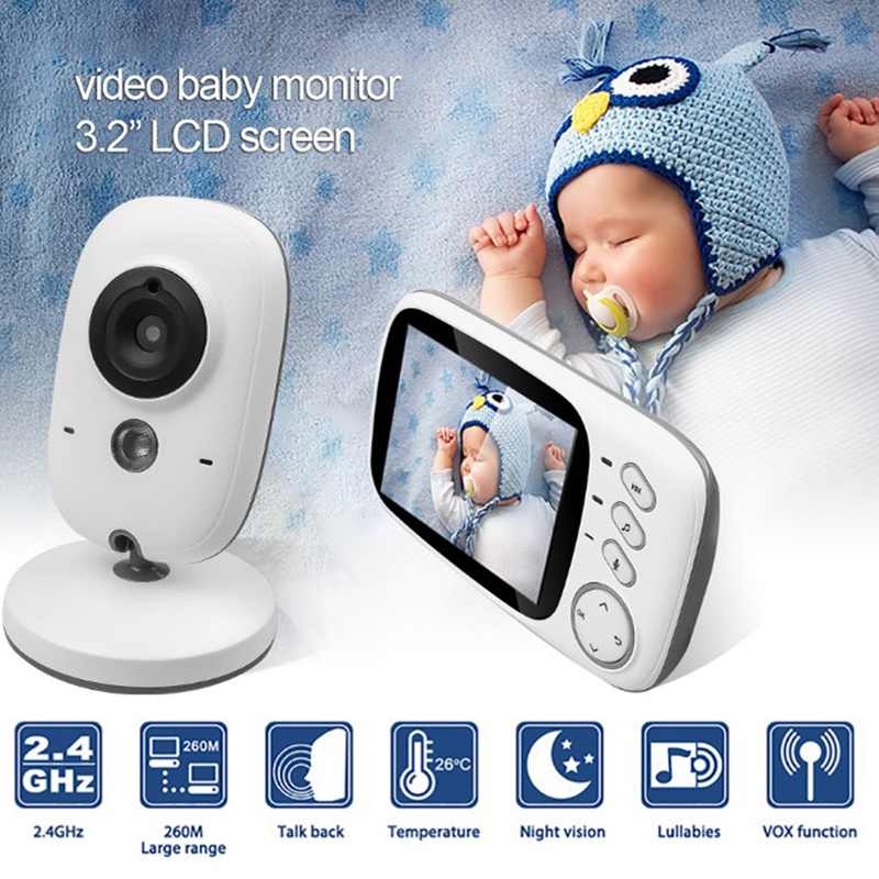 3 2 inch Wireless Video Baby Monitor High Resolution Baby Nanny Security Camera Night Vision Baby