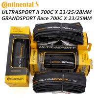 Continental ultra sport ii esporte corrida 700*23/25/28c grand prix 5000 700x23/25c pneus de estrada bicicleta pneu dobrável Pneus de bicicleta     -
