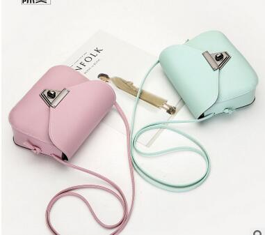 2018 FREE shipping Chi fanqie Mini cute all-match shoulder bag metal lock Xiekua package shoulder bag