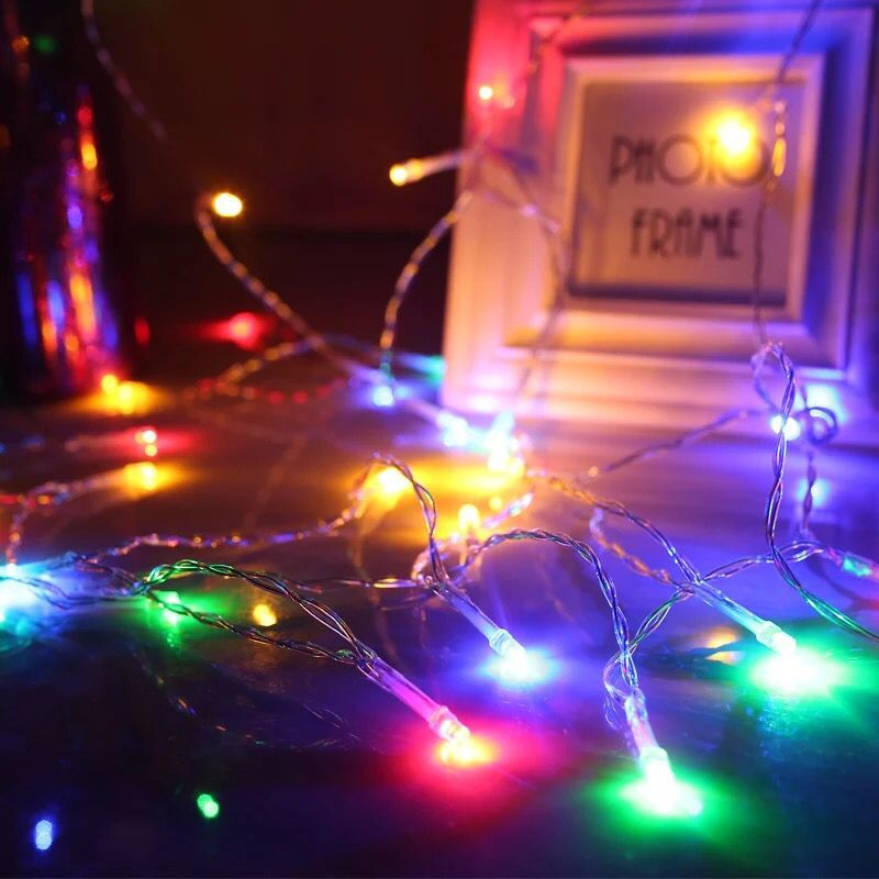 2M 20 LED Battery Operated Colorful LED String Lights for Xmas Garland Party Wedding Decoration Christmas Flasher Fairy Lights