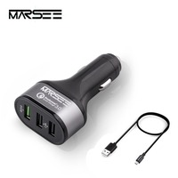 Car Charger MARSEE 42W 3 Port USB Quick Charge 3 0 For Smartphones And Tablet