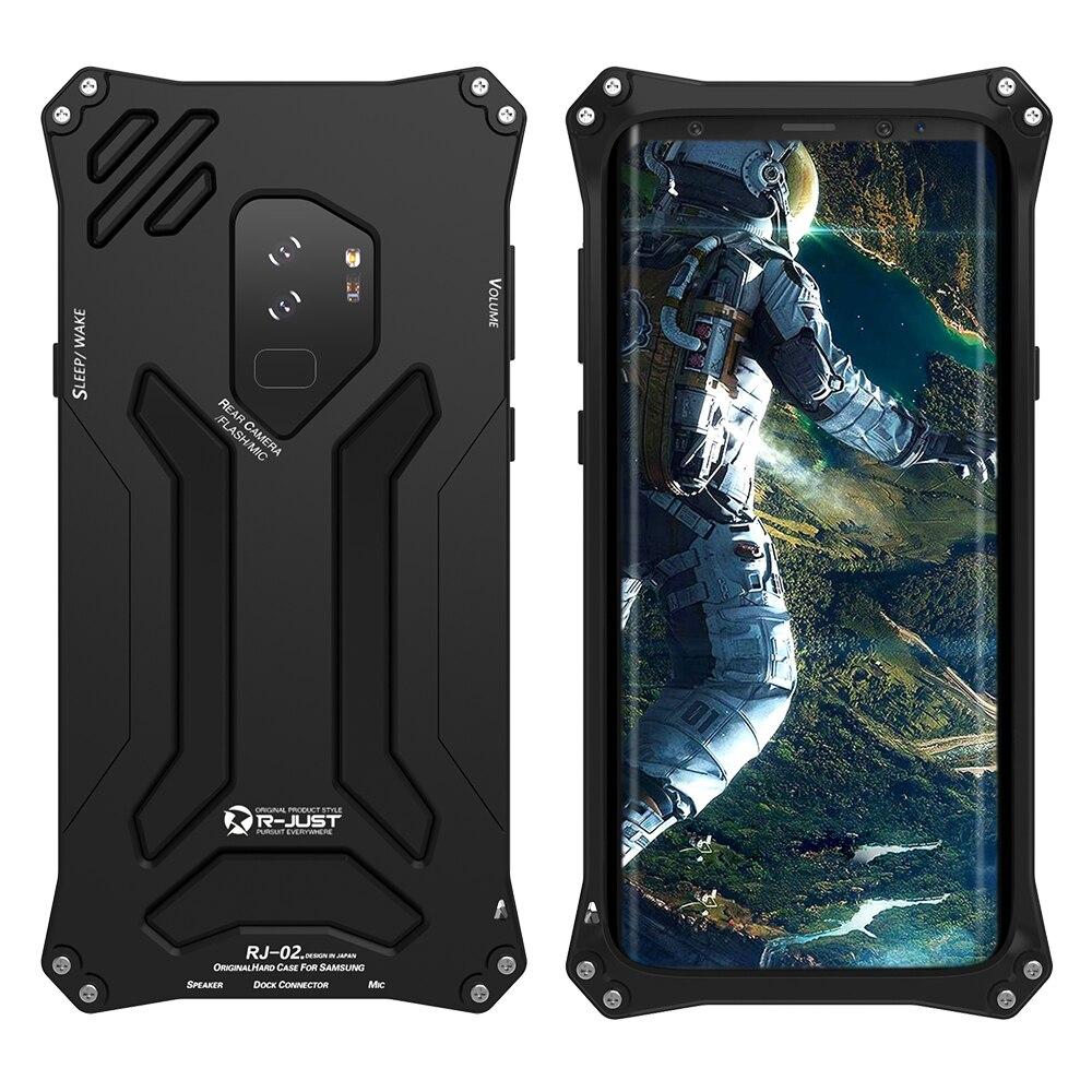 Étui pour samsung Galaxy S9 S9 S9 Plus en aluminium de luxe Feiteen étui pour armure de Protection complète Gundam étui pour samsung S9/S9 Plus