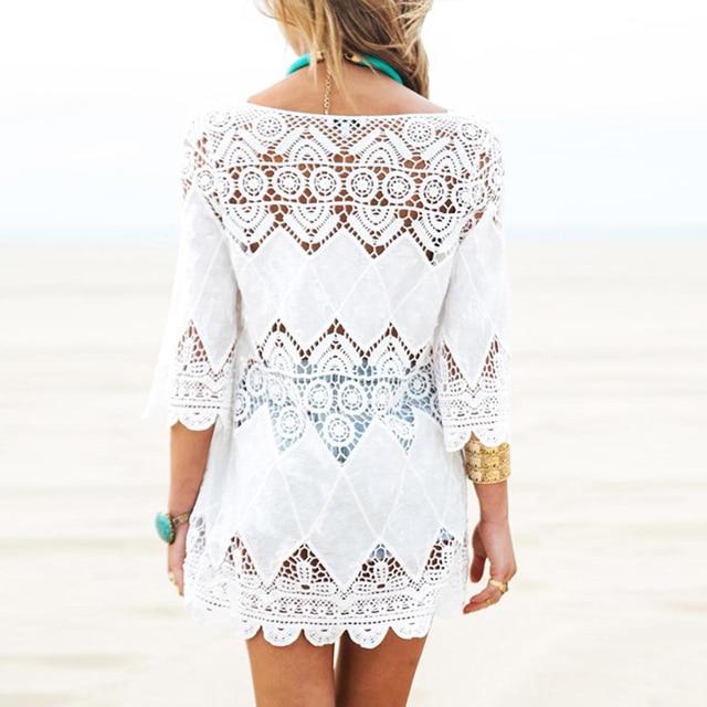 Lace Hollow Crochet Beach Bikini 6