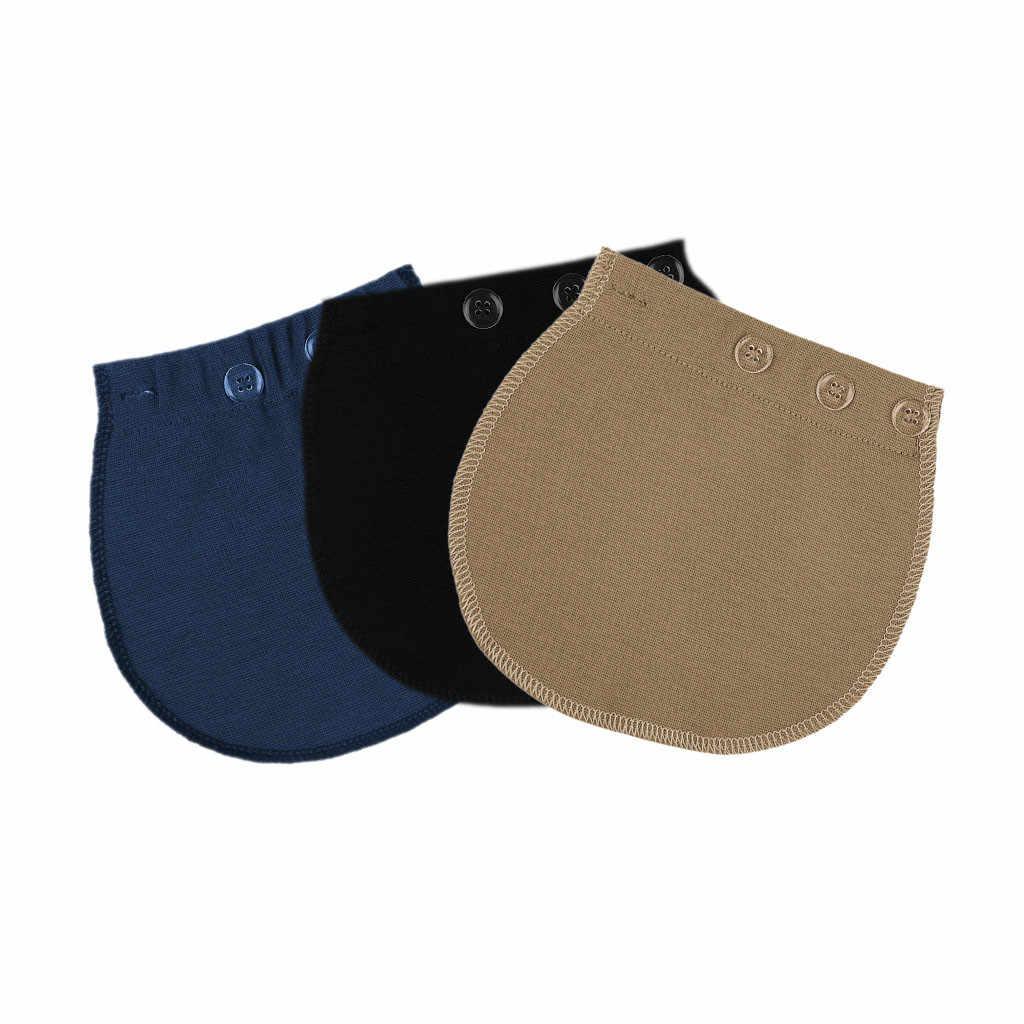 Premamá cinturón extensor soporte maternidad ajustable pantalones elásticos mujer cintura suave botón alargamiento pantalones cinturón