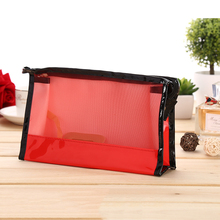 8 Colors New Cute 2015 Splice Makeup Bags Transparent Waterproof Travel Cosmetic Bags Case Toiletry Bathing Pouch 1045-60