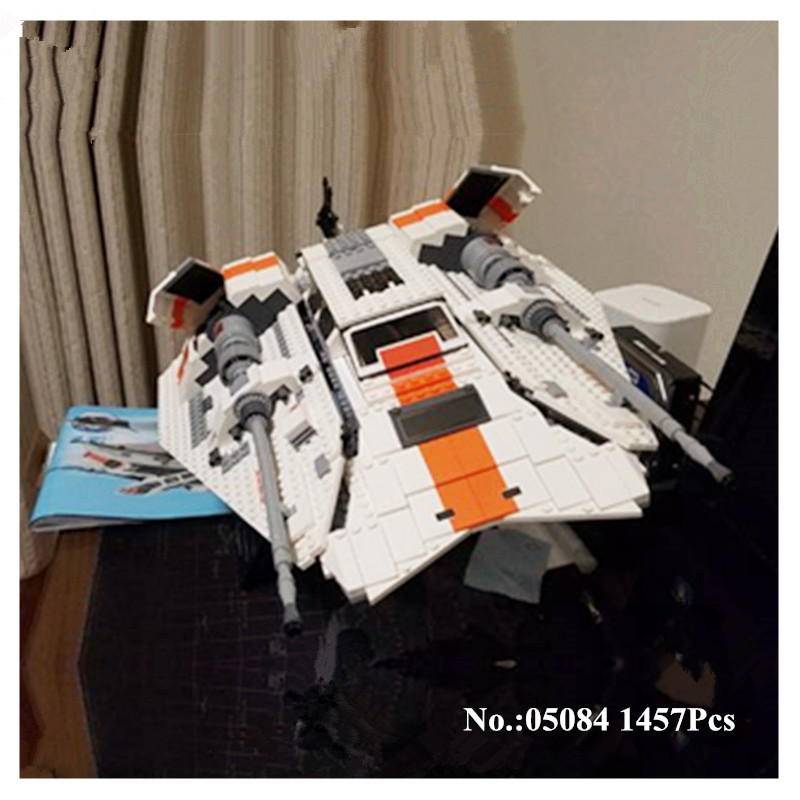 H HXY 05084 Star 1457Pcs Series Wars Stunning The Rebel Snowspeeder Set Educational Building Blocks Bricks