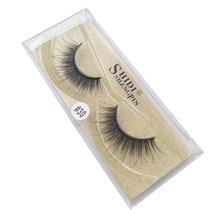 1pairs Faux Cils  mink eyelashes natural long 3d lashes hand made makeup false pink/gold/silver Boxs