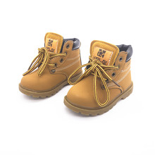2017 new autumn winter Fashion Child Leather soft Boots For Girls Boys Warm Martin Shoes Casual Baby Toddler