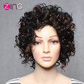 Zing High Quality Synthetic Wigs Brown Color Synthetic Women's Wig Natural Kinky Curly Synthetic Wig Perruque Synthetic Women