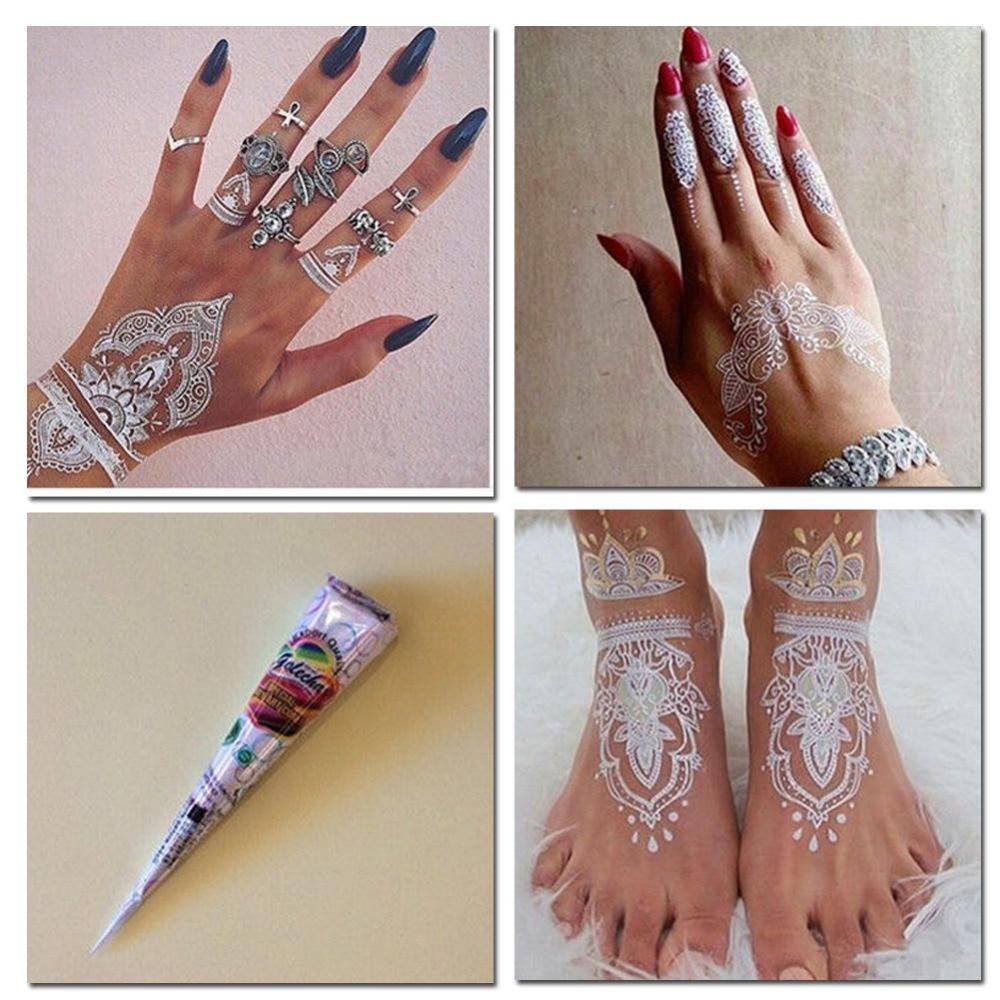 Gambar Henna Warna Putih Balehenna