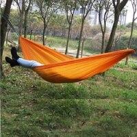 Ultra Light Summer Outdoor Camping Hammock Double Hammock Outdoor Leisure Parachute Cloth