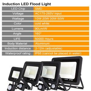 Image 2 - LED PIR Motion Sensor Adjustable Flood Light 10W 20W 30W 50W Waterproof IP66 220V Floodlight Garden Spotlight Outdoor Wall Lamp