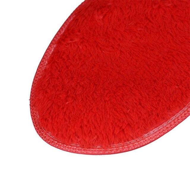 2018 Nuovo Bagno Tappetini antiscivolo Ouneed 1 pz 40*28 cm antiscivolo Tappetini Da Bagno Cucina bagno Home Decor a forma di cuore di Corallo Del Panno Morbido Tappeto
