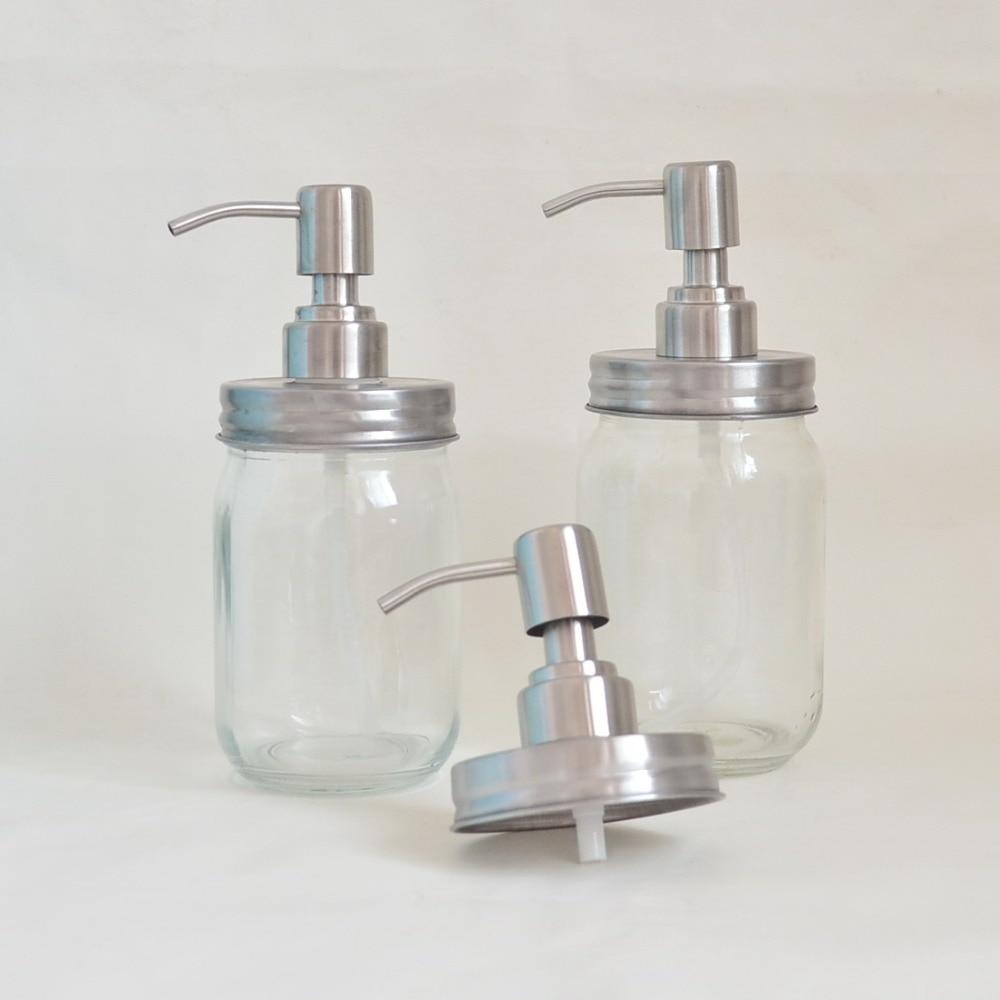 10pcs lot Lotion pump cover for Mason jar bath liquid bottle Press type mason bottle cap
