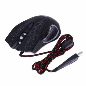 USB Wired LED Light Optical Gaming Mouse 6 Buttons 3200 DPI Computer PC Gamer Mice Backlight Esports Laptop Games Mouse for PUBG 6