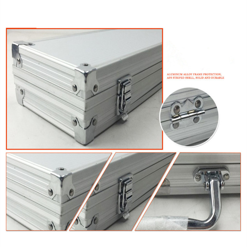 Freizeit Handtasche Grade Tasche Toolbox Reise Hellgrau Rahmen Angelrute Getriebe Taschen High Koffer Box Abs Beruf Fest Aluminium Blatt Metall axq5d7