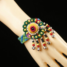 цена DIY  handmade Original ethnic bracelet hand-knit national wind fabric bracelet bead