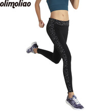 Olimoliao Brand  Leggings Womens Pants Reflective night run fitness Printing Legging  Leggins Slim fit  Women Leggings