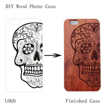 Hot Sale Case for iphone 8 i8 New Laser Engrave Real Wood and plastic Custom Any Pattern DIY Logo Cover For iphone 8 plus Case стоимость