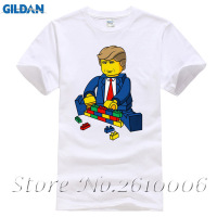 2017 Summer Fashion Building Block Donald Trump T Shirt Men S High Quality Custom Printed Tops